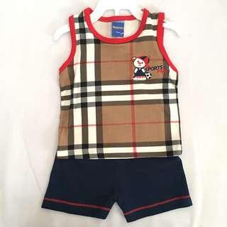 Baby Boy Burberry Inspired Set SB 015