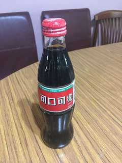 Taiwan Coca Cola 300ml glass bottle 1996