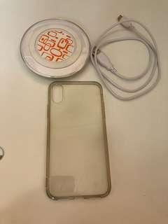 iPhone 無線充電器、矽膠電話殼