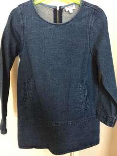 Seed (Australia) Girl Jean dress 6-7Y