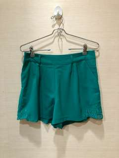 High waist green shorts
