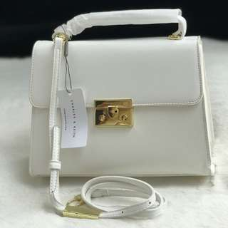 Charles and Keith White Slingbag