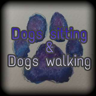 Dogs sitting & Dogs walking