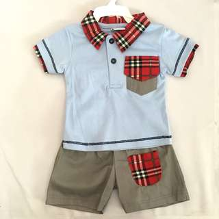 SB 017 Baby Boy Collared Set Wear