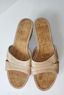 Preloved Sandal Nine West Coklat Full Leather Authentic Original