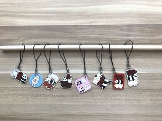 We Bare Bears Mobile Strap Shrinky Keychain