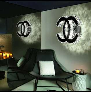 Led Crystal Chanel Wall/Ceiling Light