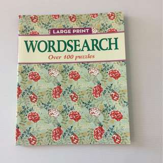 🔍 Large Print WordSearch