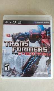 Transformers War for Cybertron for PS3