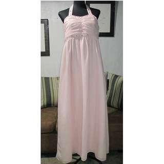 SALE Light Pink Halter Gown