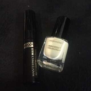 Max factor mascara and nail polish