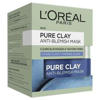 Pure clay anti blemish mask