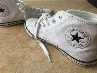 Converse All Star Dainty leather mid white