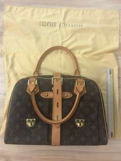 LV monogram shoulder satchel with dustbag