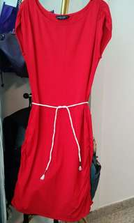 dorothy perkins red fitting dress