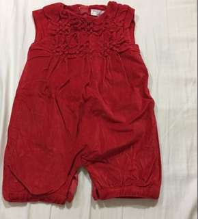 🆓📮Chateau de Sable Red Romper/ Jumpsuit / Playsuit