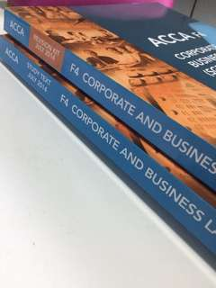 ACCA F4 Corporate and business law (study text) and (revision kit) 2014 Edition