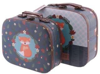 Fox Tales Vintage cardboard suitcase