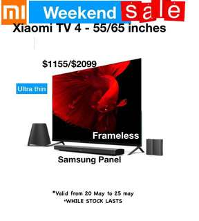 Frameless TV xiaomi TV  49 inches 55 inches 65 inches Smart Android tv Samsung pannel