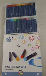 Edu3 School 24 Jumbo Oil Pastels