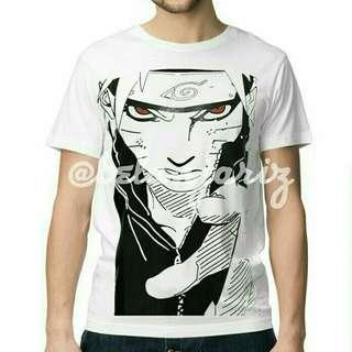 Kaos Distro Anime Naruto White