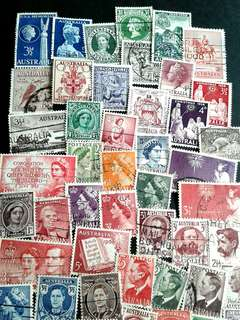 Australia used stamps