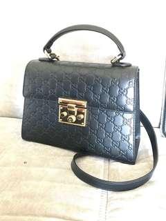 Padlock small Gucci Signature shoulder bag