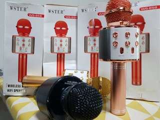 WS-858 Wireless Bluetooth Microphone Wster ( IN STOCK )