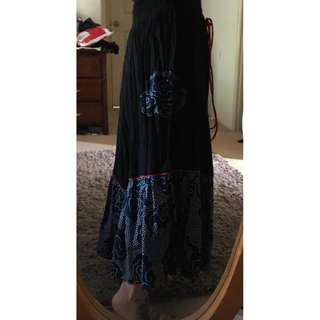 Handmade Gypsy skirt, fit 10/14 approx