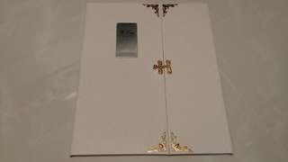 優雅高質簽名冊(內有相框放結婚照)