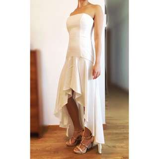 🚚 BCBG white gown (u.p. $899)