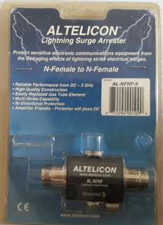N-female to N-female lighting protector