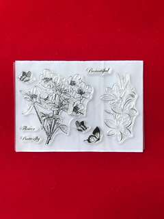 Flowers #19 scrapbook clear stamps
