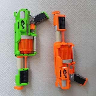 NERF Dart Tag shotguns
