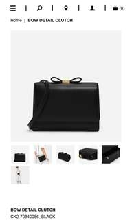 Charles & Keith bow clutch/ sling bag