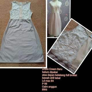 Dress Cream Baru