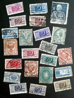 Italian vintage stamps