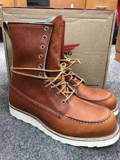 Red Wing Boots 9D 877 Oro Legacy Leather** Brand New