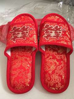 Chinese slippers for betrothal/ dowry gifts
