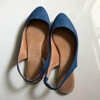 Suelas Slingback Flats Blue Size 7.5