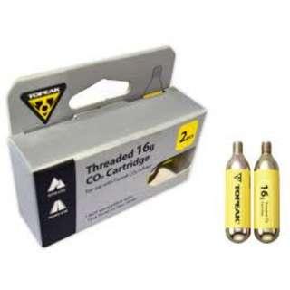 Topeak Co2 Cartridge 16gram Threaded Canister