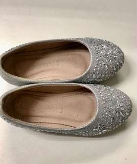 (#9) Shiny Silver Doll Shoes