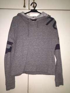 Forever 21 grey crop top hoodie
