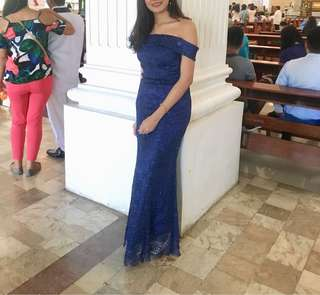 For Rent - Bridesmaid Royal Blue Gown
