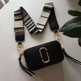 Marc Jacobs Snapshot Camera Bag - black & white