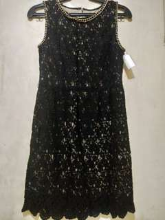 Black vintage style dress for Gatsby themed party
