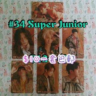 34期 Yes!卡 ( SUPER JUNIOR )( 1Set包郵 )