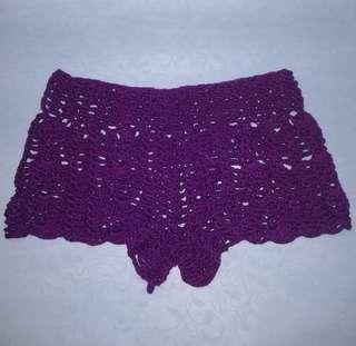 Crochet short/ swimwear