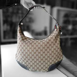 Authentic Gucci GG Canvas Princy Hobo Bag