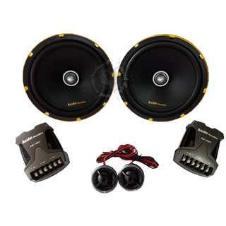 KOLE AUDIO KSE-1680C HIGH PERFORMANCE COMPONENT SET SPEAKER TWEETER CROSSOVER CAR AUDIO SYSTEM (200WATTS)